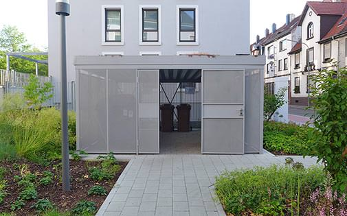 shelter for waste container